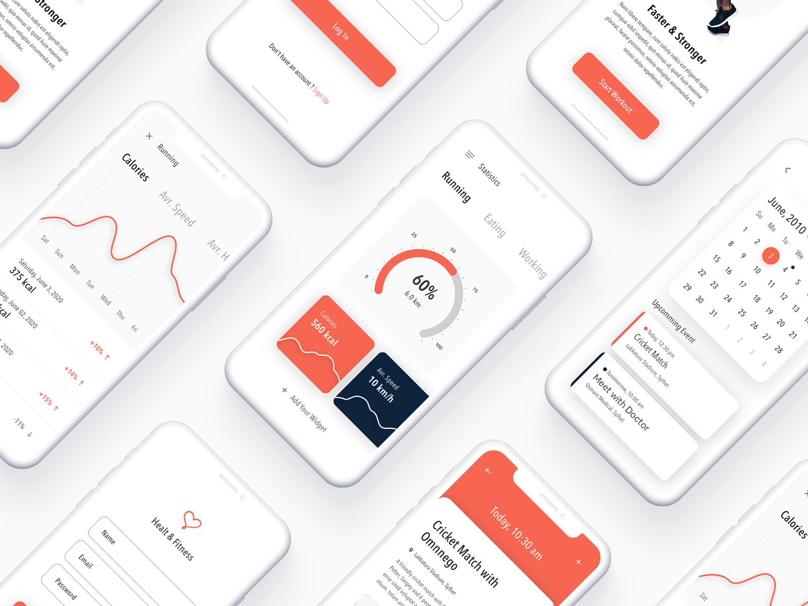 Fitness App   DashApp   Dashboard app, Ios app design