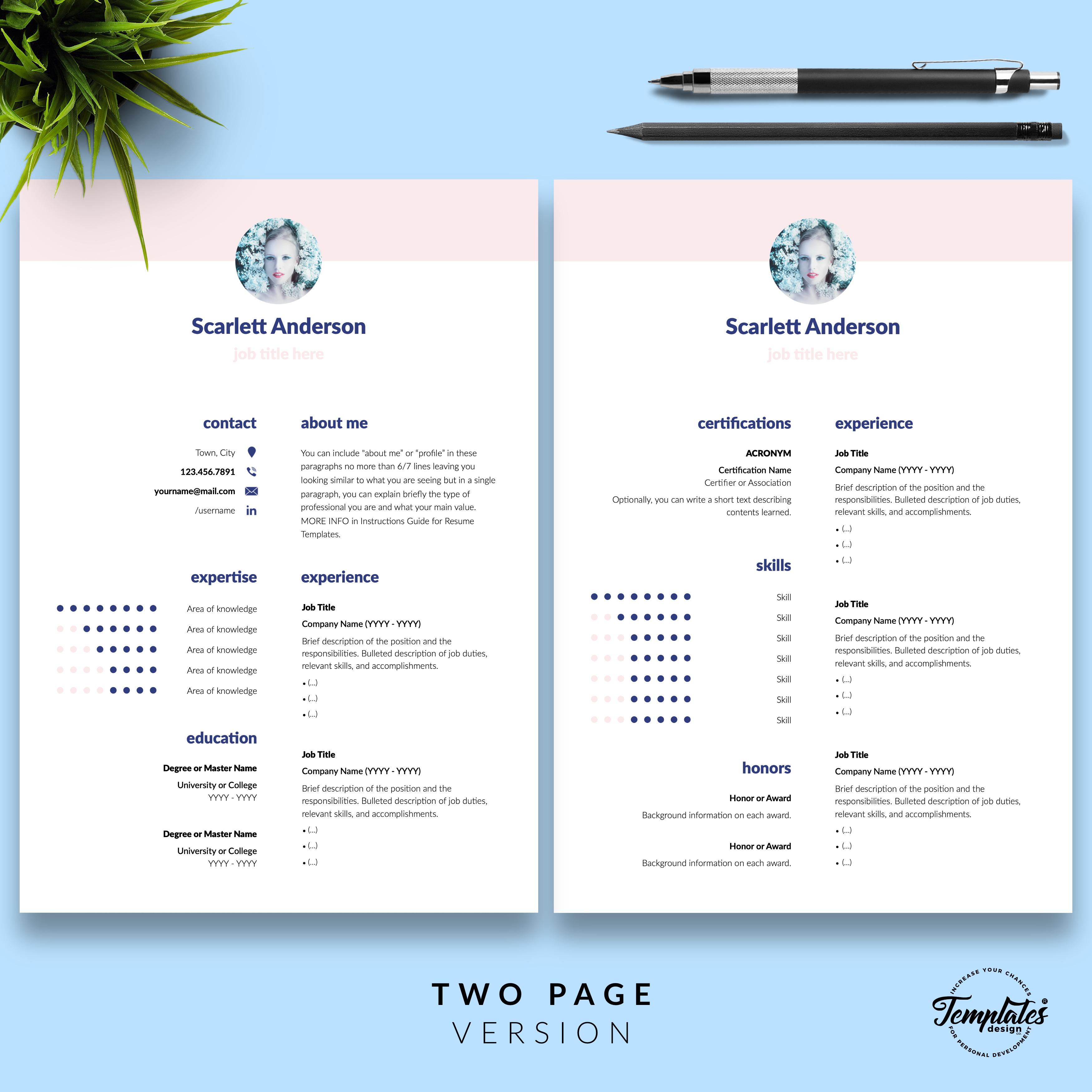 Professionelle Lebenslauf Vorlage Fur Microsoft Word Und Apple Pages Resume Templates Cv Template Resume