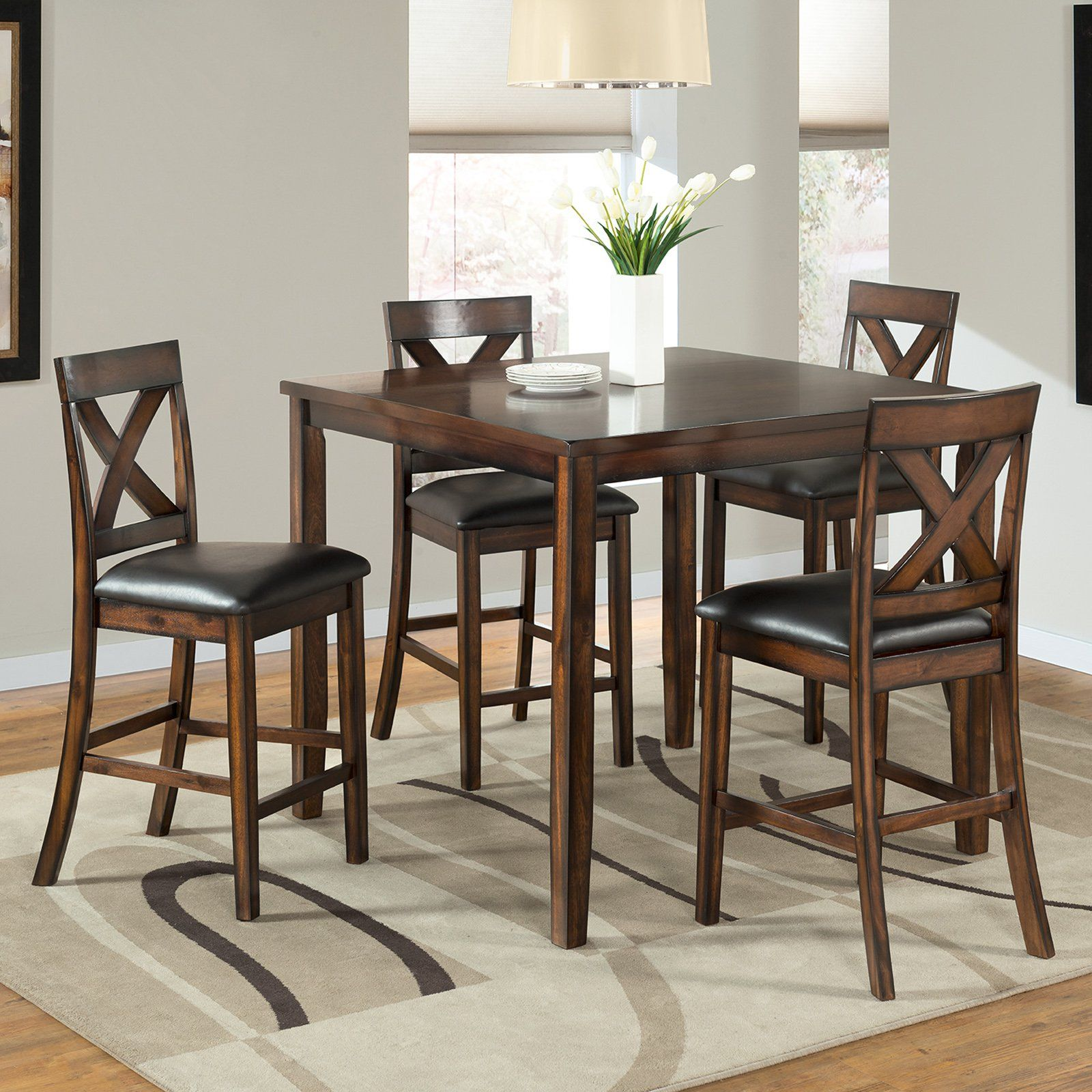 Vilo home americano 40 in square 5 piece pub table set vh525 vilo home americano 40 in square 5 piece pub table set vh525 watchthetrailerfo
