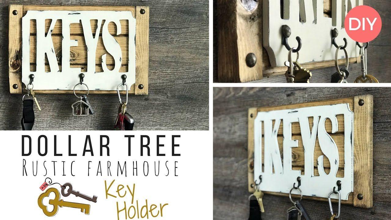 Key Holder Diy Dollar Tree Diy Rustic Farmhouse Style Ashleigh Lauren Youtube Key Holder Diy Rustic Farmhouse Style Rustic Diy