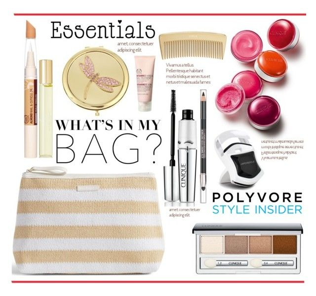 """""""Makeup Bag Essentials.."""" by vkevans ❤ liked on Polyvore featuring beauty, Vera Bradley, Clinique, The Body Shop, Monet, Japonesque, Aromatherapy Associates, AERIN, contestentry and vkevans"""