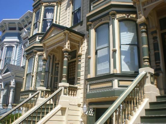 San Francisco, Californië: Victorian Frontage Pacific Heights