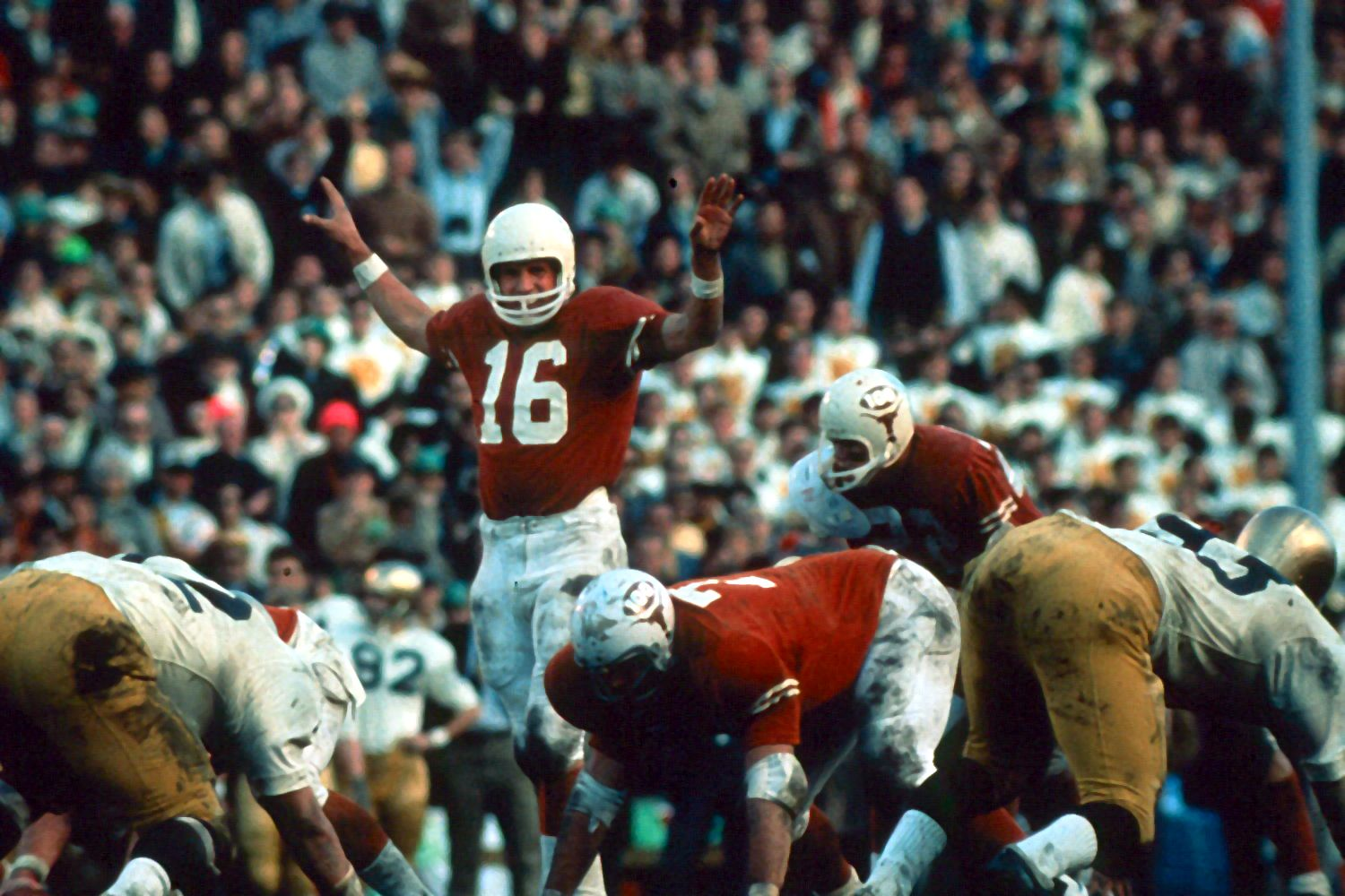 James Street directs the Texas Longhorns' offense during