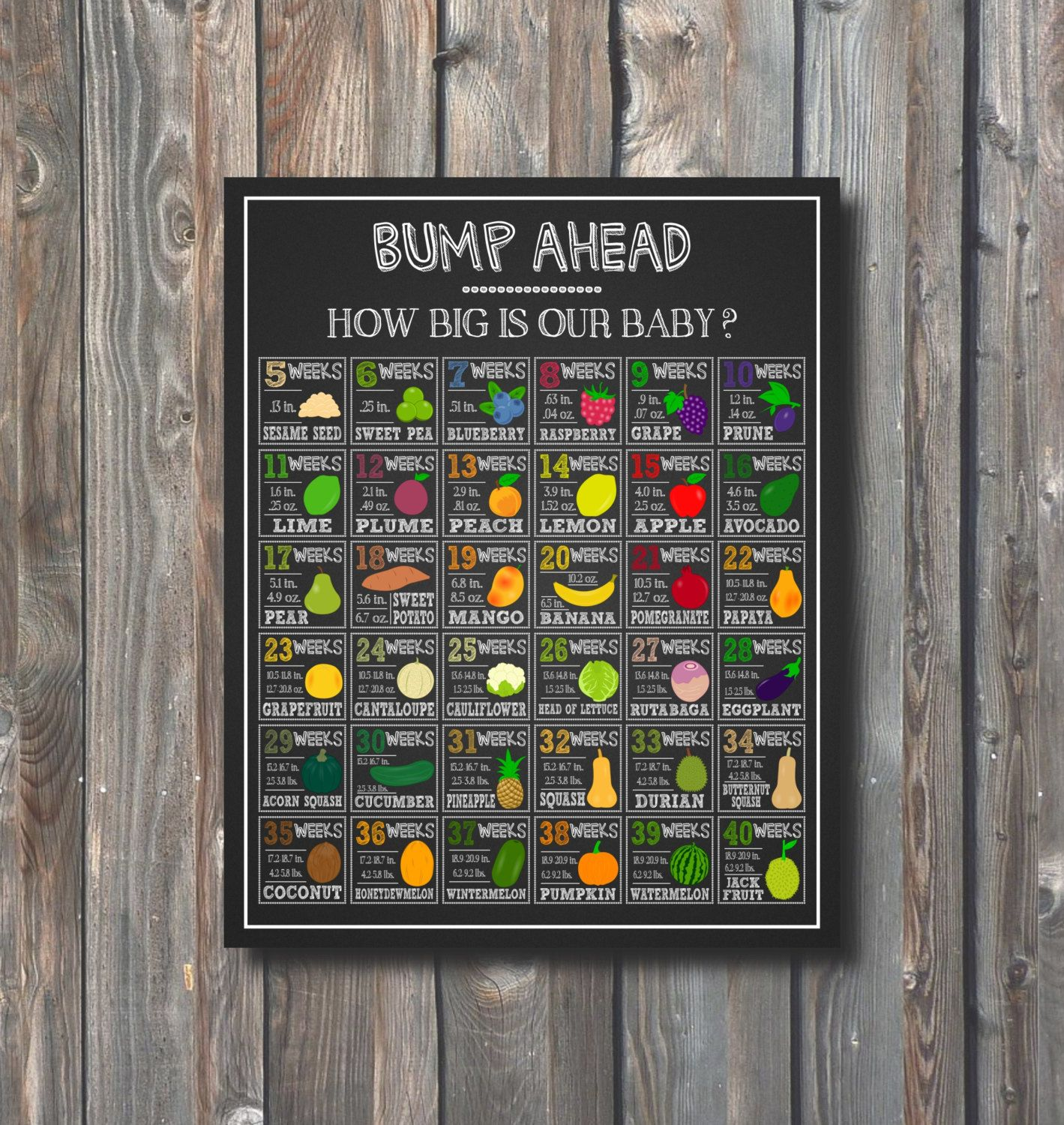 Printable how big is baby chalkboard baby growth chart baby size printable how big is baby chalkboard baby growth chart baby size week by week baby comparison to fruits 1 baby size sign pregnancy sign geenschuldenfo Choice Image