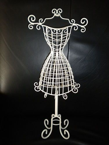 White Wire Wired Dress Form Shaped Jewelry Holder Im in love with