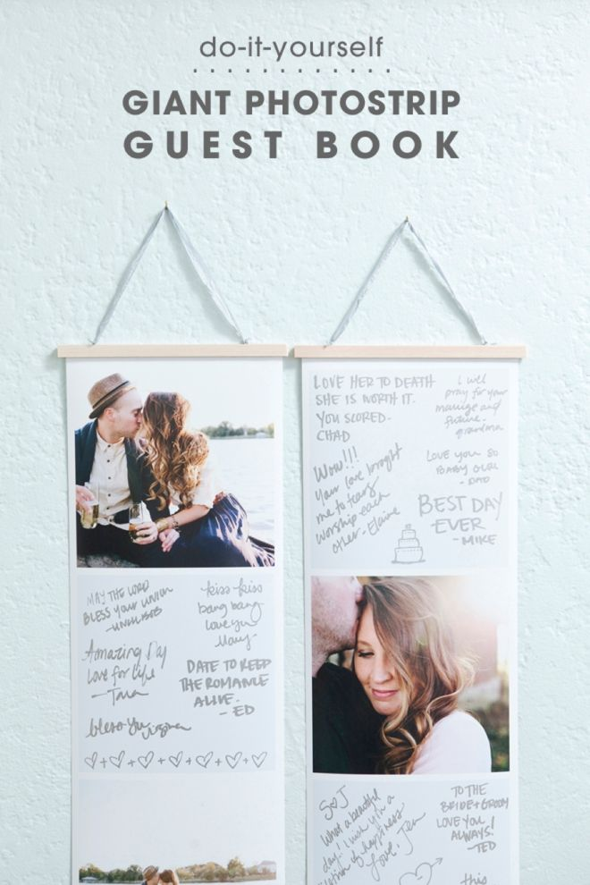 Learn how to make this giant photostrip guest book books wedding diy giant photostrip guest book solutioingenieria Images