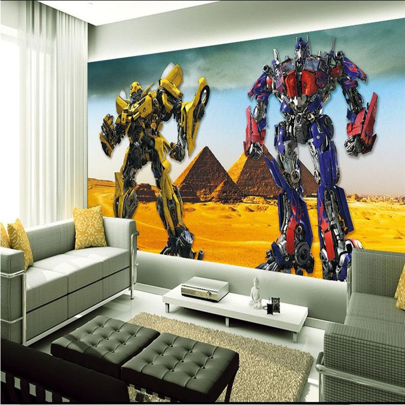Lovely 3D Optimus Prime Wallpaper Transformers Photo Wallpaper Large Autobot Wall  Mural Room Decor Wall Art Boyu0027s