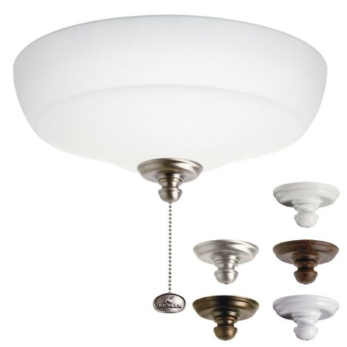 Kichler Lighting Satin Etched Light Kit At Destination Lighting Ceiling Fan Light Kit Ceiling Fan With Light Fan Light