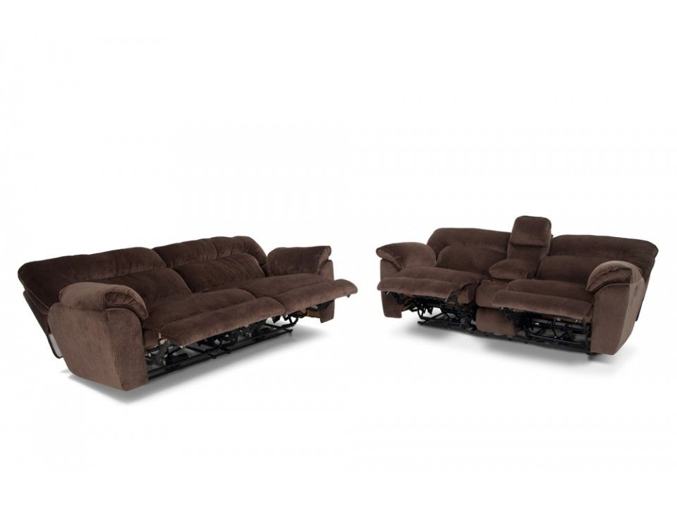 Brava power reclining sofa console loveseat reclining - Bob s discount furniture living room sets ...