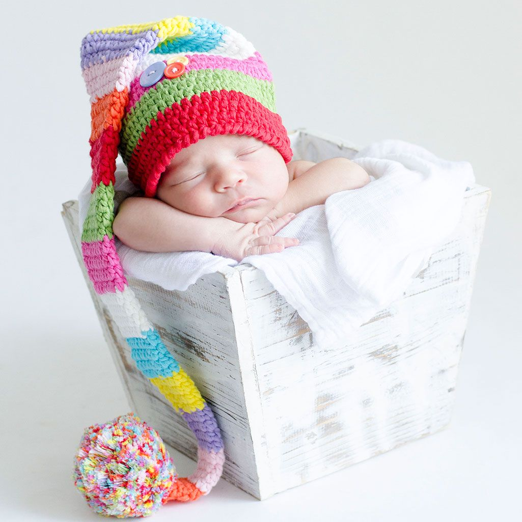 Increíble Patrón De Crochet Sombrero Del Duende Del Bebé Colección ...