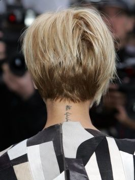 Victoria Beckham Graduated Bob Back View Like The Change In Color From Dark To Light Short Hair Back Beckham Hair Victoria Beckham Hair