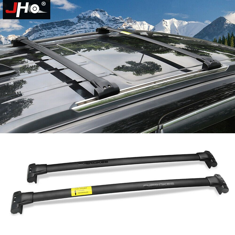 Black Car Roof Rack Crossbars For Jeep Grand Cherokee 2014