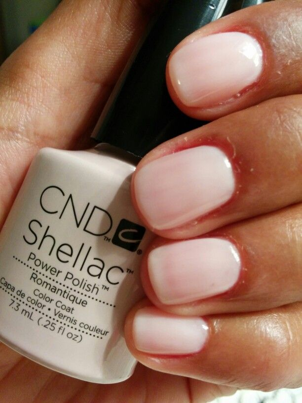 Strawberry Smoothie Layered With Romantique Cnd Shellac Gel Nail Polish Colors Gel Manicure