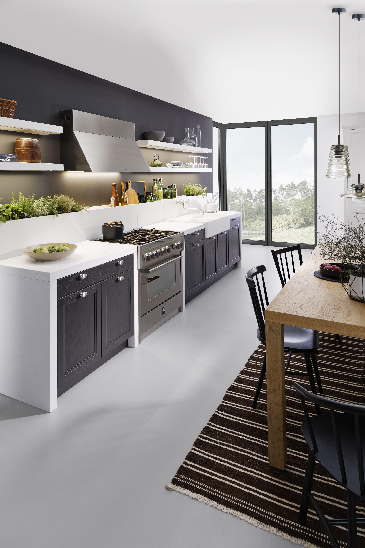 Shaker Küchen ideen für deine neue schwarze kochinsel bilder edlen dunklen