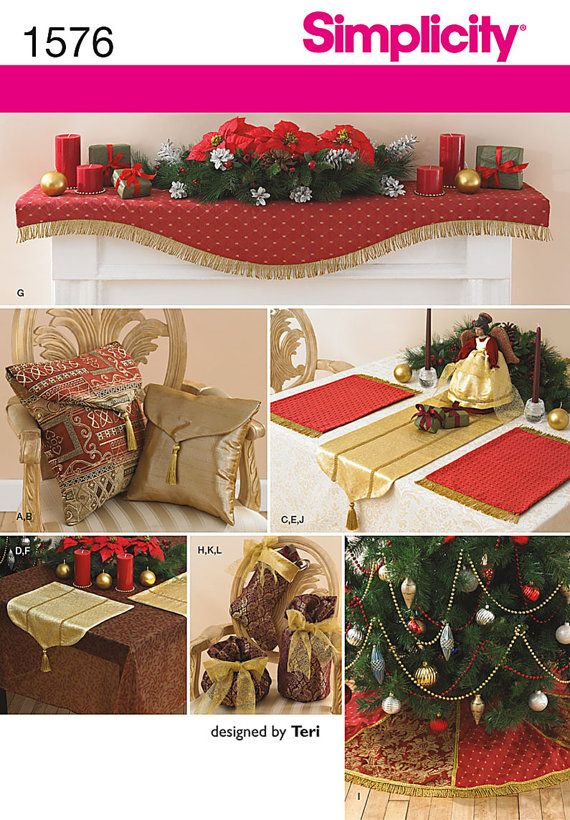 Christmas Decor Mantle Scarf Tree Skirt Table Runner