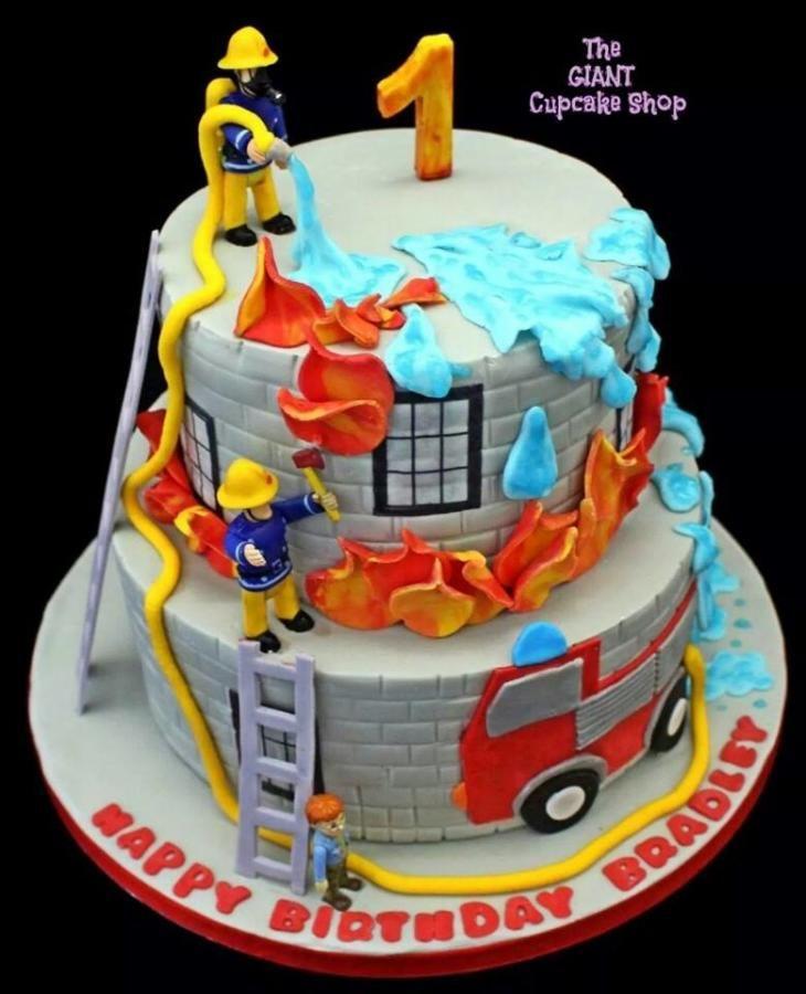 Fireman Sam Friends Cake By Thegiantcupcakeshop Backen Fur