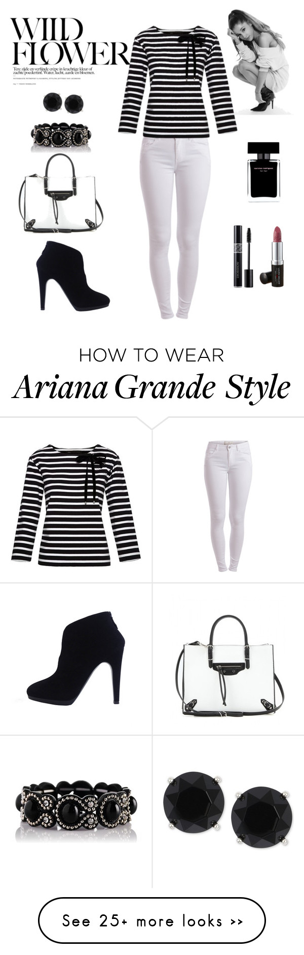"""""""Untitled #568"""" by gallant81 on Polyvore featuring Pieces, Marc by Marc Jacobs, Balenciaga, Anne Klein, Christian Dior, Laura Geller and Narciso Rodriguez"""