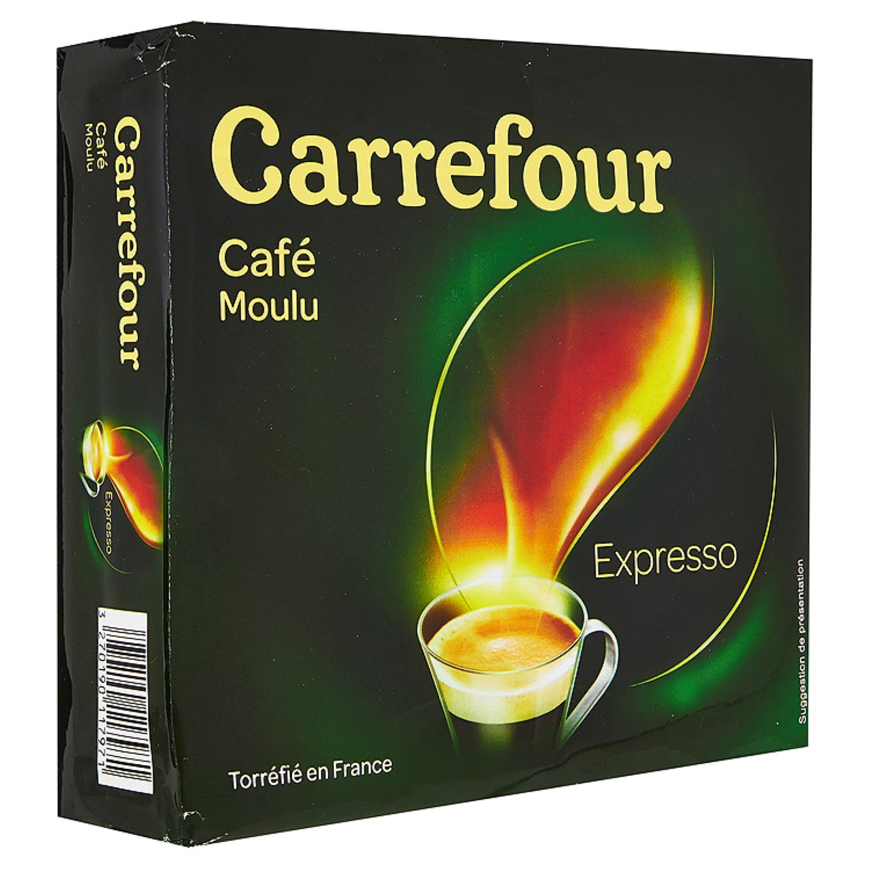 Cafe Moulu Expresso Carrefour Les 2 Sachets De 250g A Prix