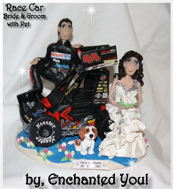 race car driver wedding cake topper sprint car wedding cake topper my wedding ideas 18952