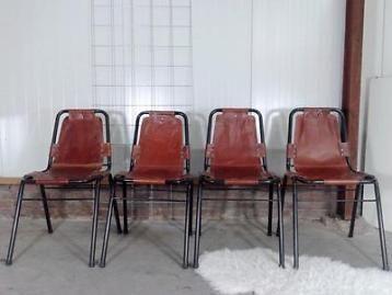 Cognac Leren Stoel : Cognac leren stoelen retro design 4x stoel vintage leer