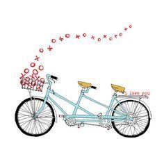 Bike Clip Art Love