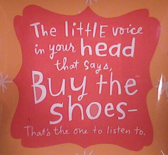 we shoe-aholics know this voice...
