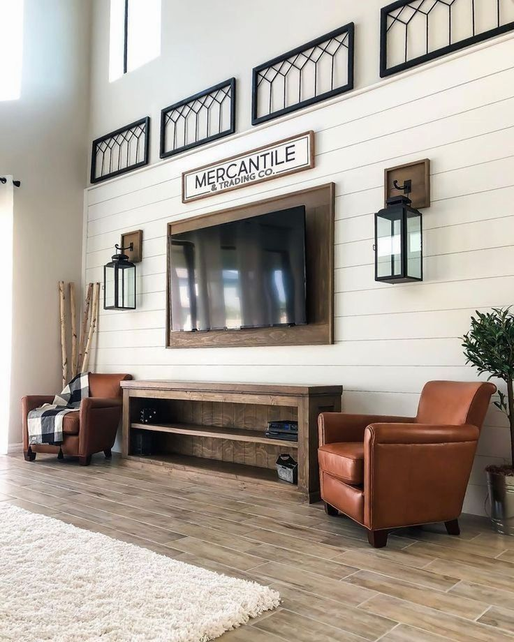 5 Awesome Budget Friendly Accent Wall Ideas: 36 Awesome TV Wall Ideas For Your Living Room