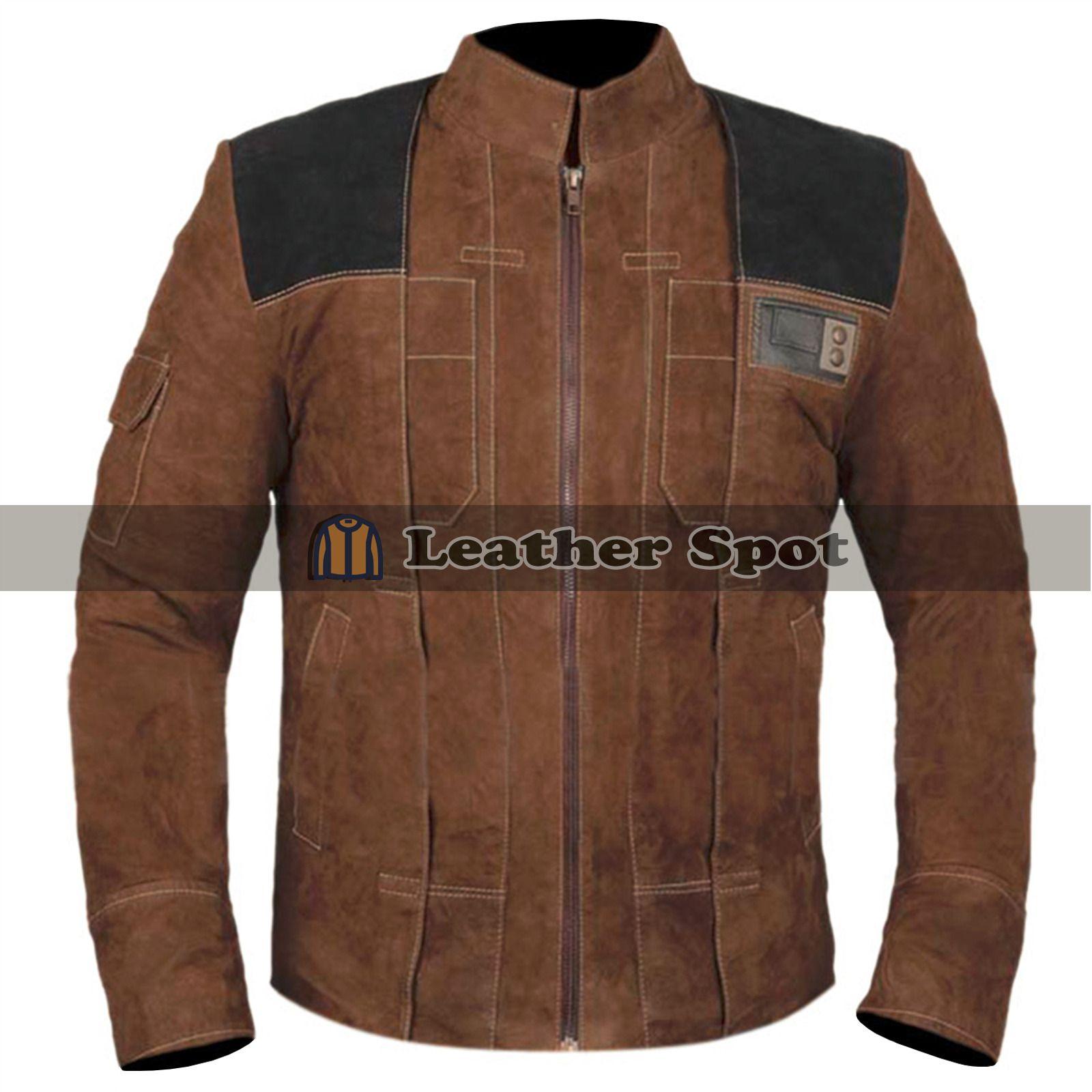 Han Solo Star Wars Story Tan Brown Suede Leather Jacket Lm Jackets Star Wars Jacket Nice Vests Jackets [ 1600 x 1600 Pixel ]