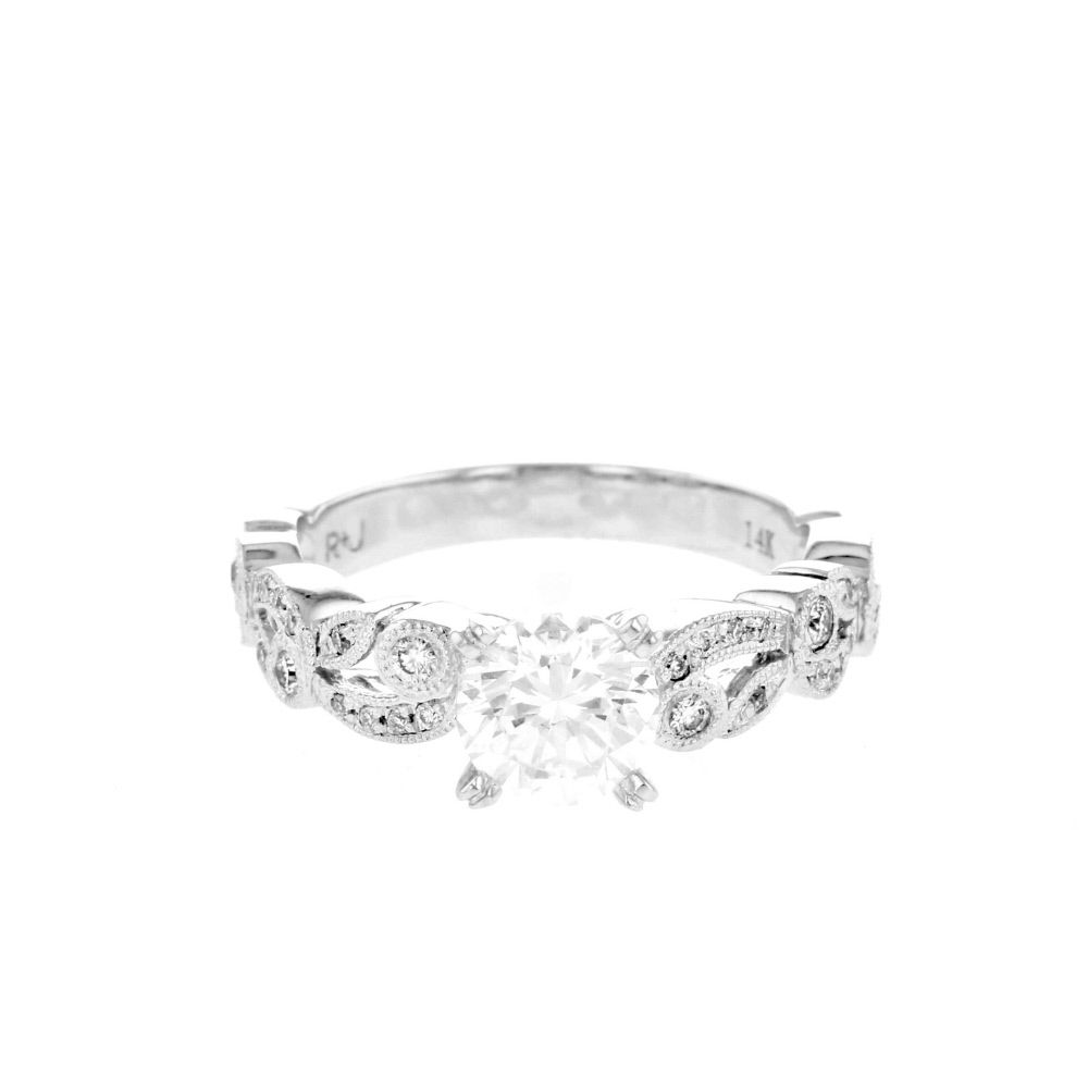 sides design this unique pin round leaf vintage rings make ring engagement center and the
