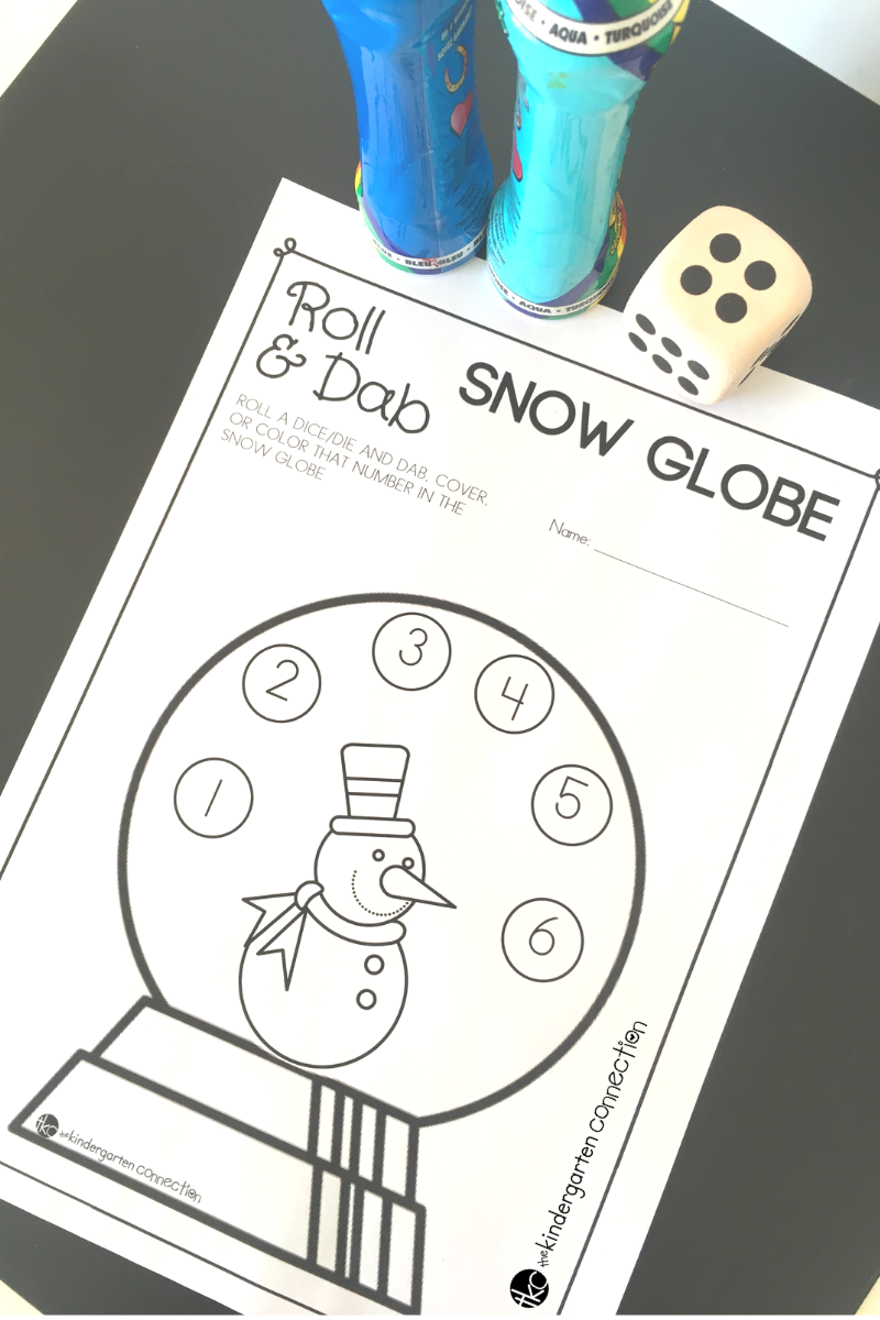 roll and cover snow globe number activity in 2020  winter