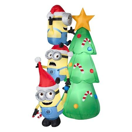 6\u0027 Minions Christmas Tree Scene - Airblown  Target \u0027Tis the