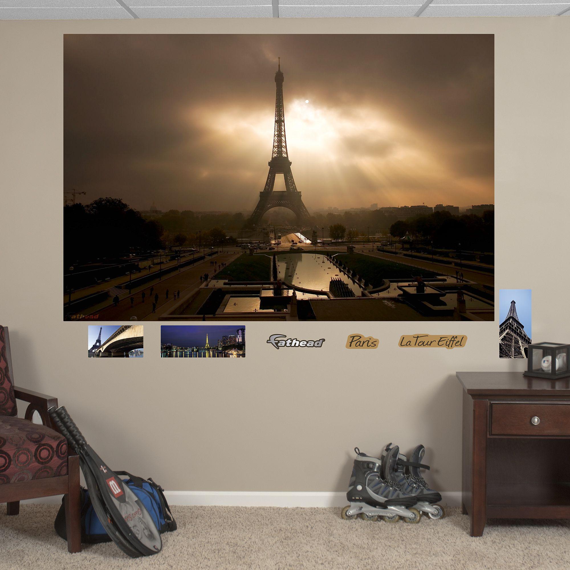 Eiffel Tower at Dusk Mural