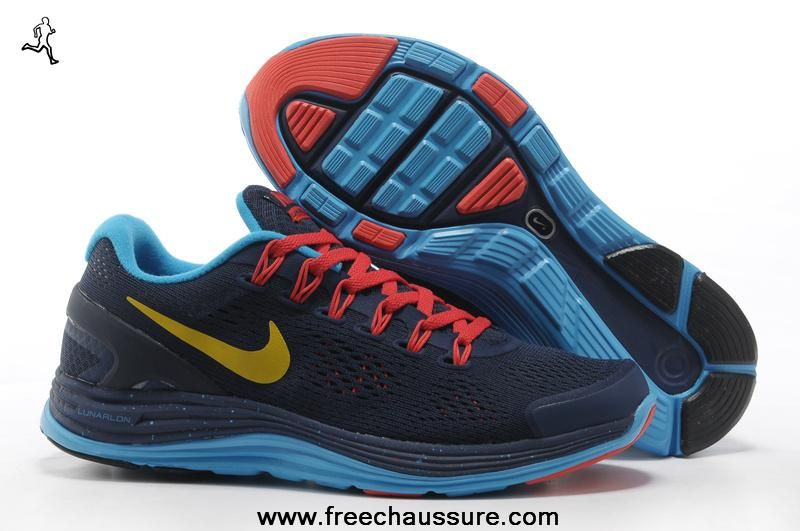 the best attitude 40917 dbf9b 580419-076 femmes nike lunarglide 4 chicago bleu crimson or noir blanc  chaussures magasin