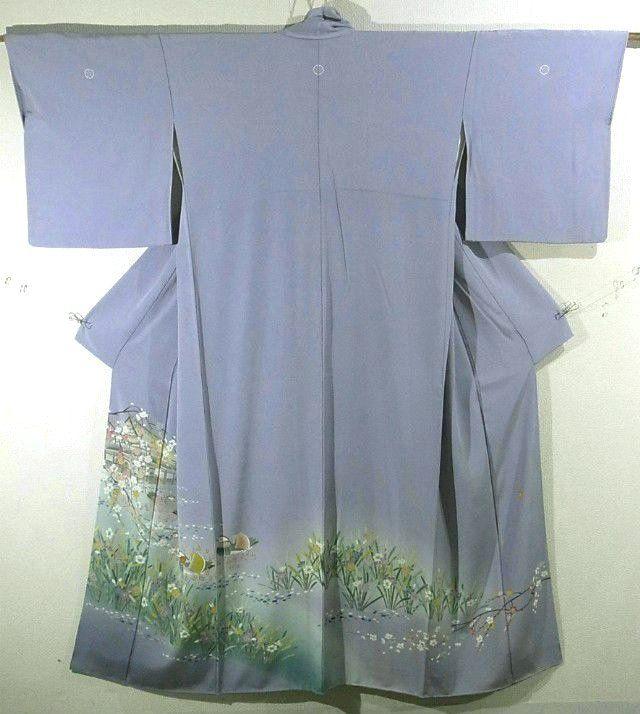 Mandarin Ducks & Ume Pattern Irotomesode Kimono