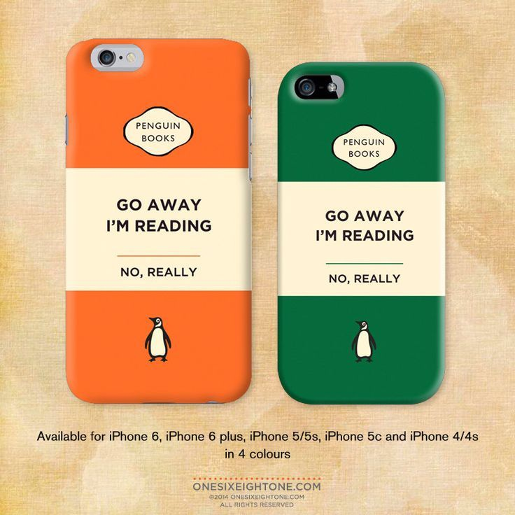 Penguin Book Cover Iphone Case : Iphone plus go away i m reading penguin book