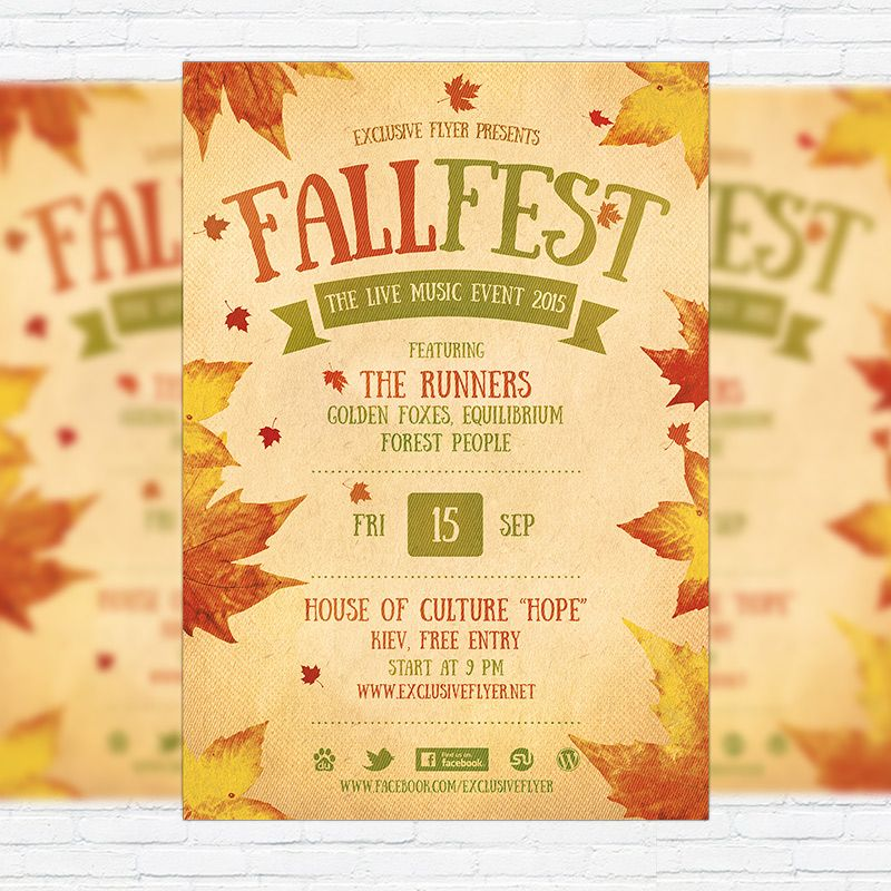 fall festival flyer template printable flyers in word fall in 2018