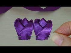 Amazing Ribbon Flower Work - Hand Embroidery Flowers Design - Sewing Hacks - Easy Flower Making - YouTube #ribbonflower