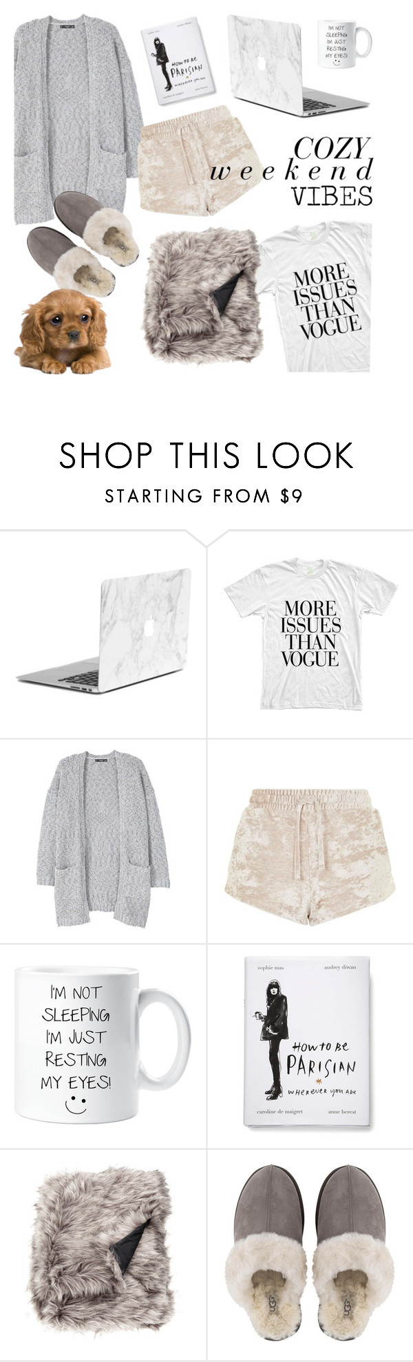 """""""Cozy Weekend Vibes"""" by emmy ❤ liked on Polyvore featuring MANGO, Topshop and UGG"""