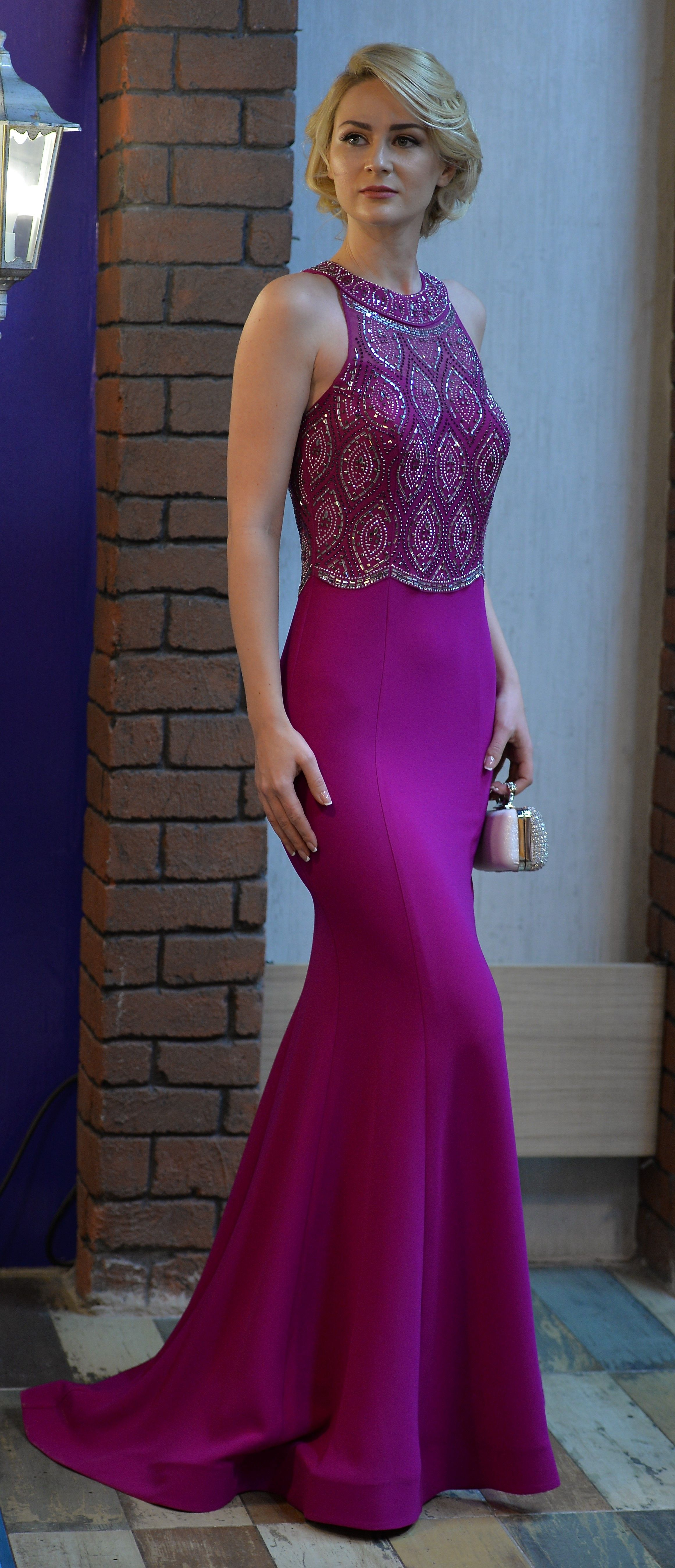 Designer prom gowns in purple,formal party dresses,mezuniyet ...