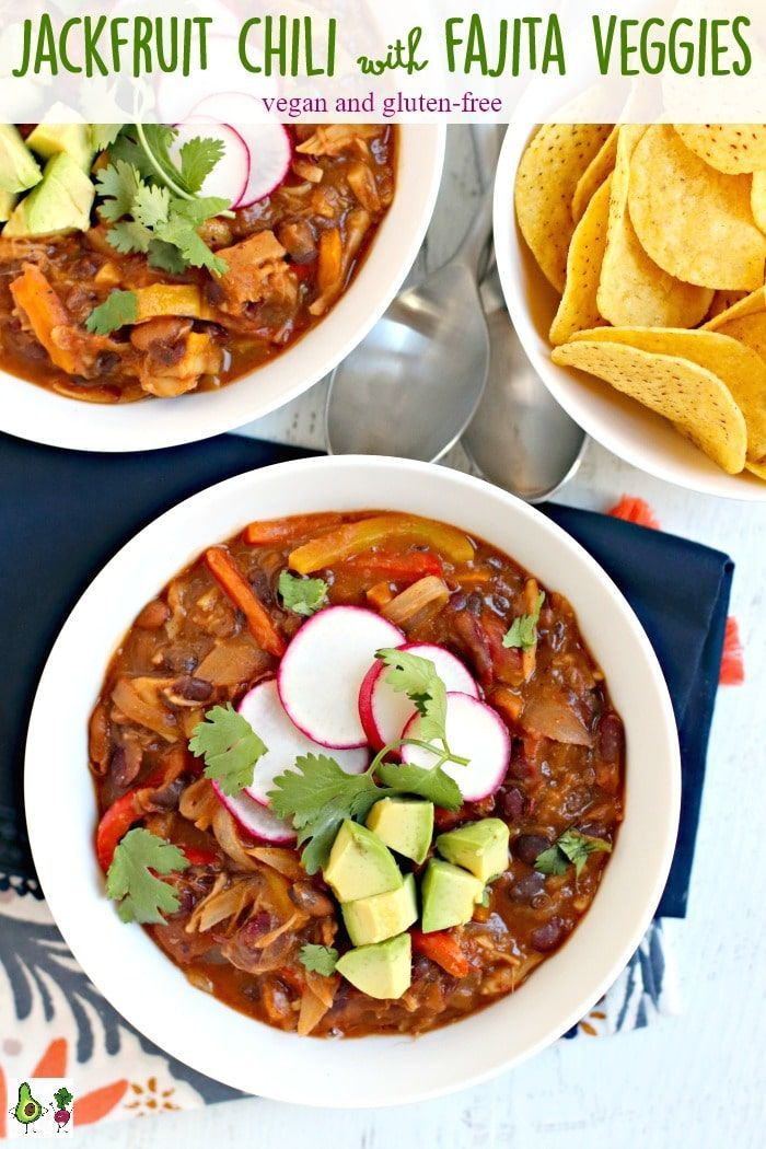 Jackfruit Chili With Fajita Veggies