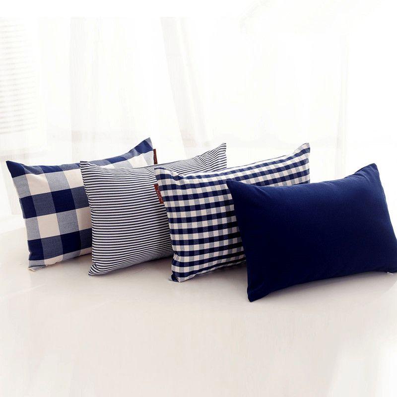 europe moderne ikea bleu marine plaids length325mm solide coussin lancer taie d 39 oreiller pour. Black Bedroom Furniture Sets. Home Design Ideas
