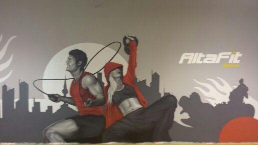 Mural entrenamiento funcional