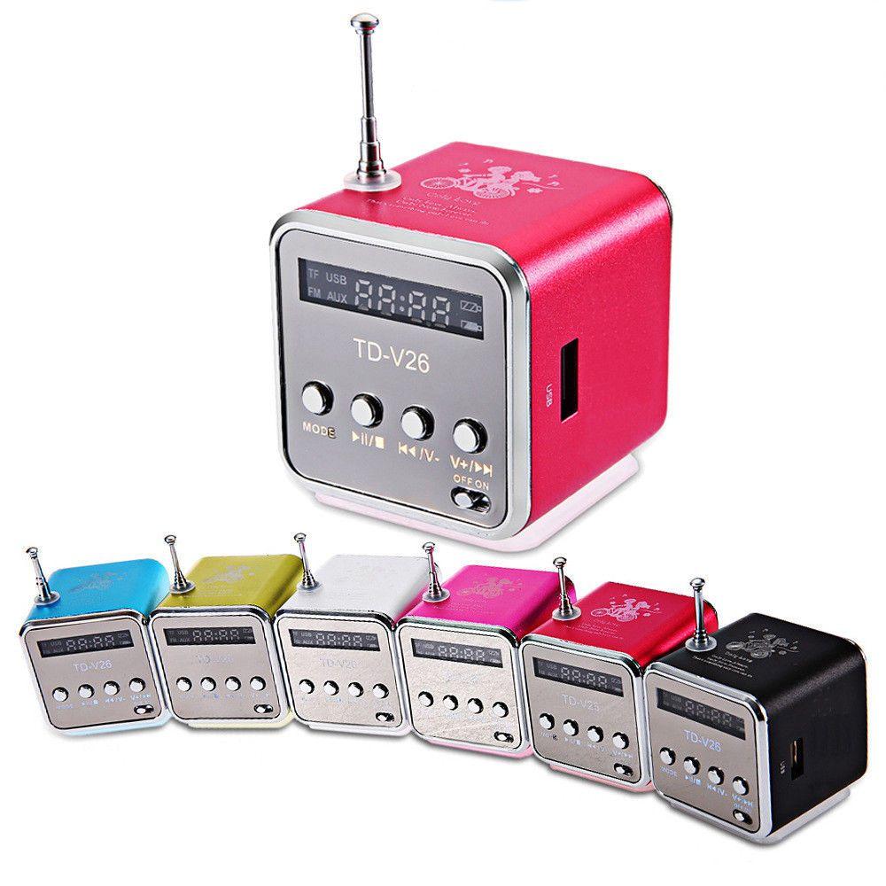 749 Aud Mini Speaker Portable Micro Sd Tf Music Player Digital Mifa Lcd Sound Fm