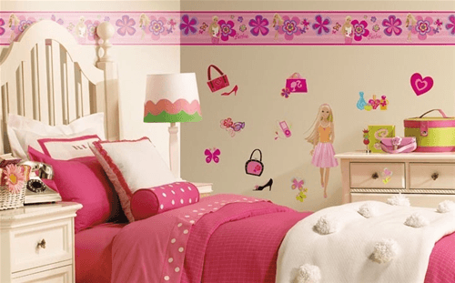 Cenefas infantiles | cortinas | Bedroom, Toddler bed y Wall wallpaper