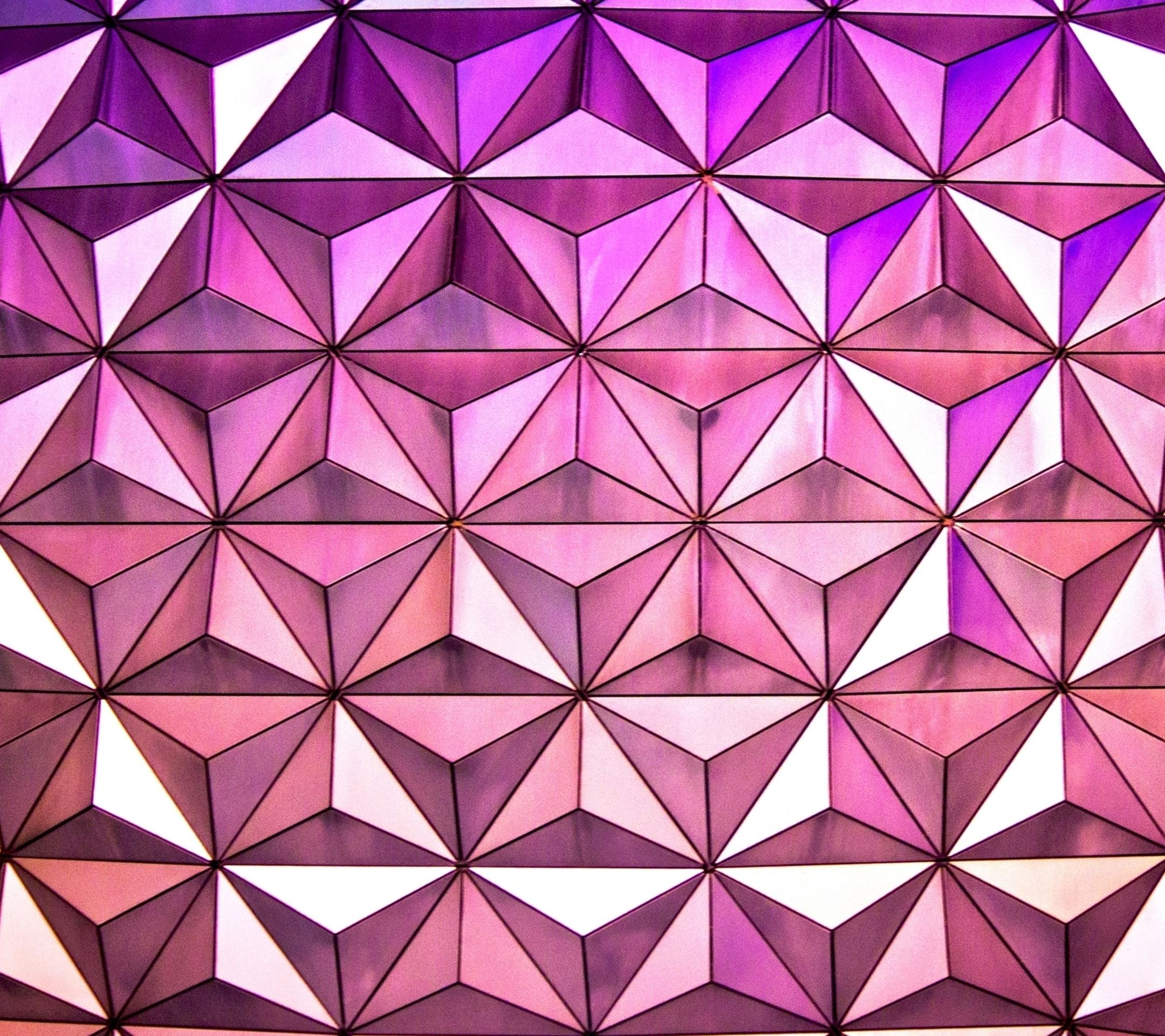 Geometric Stars Lines Pretty Purple Pink Hd Wallpaper