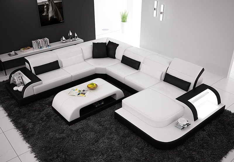 Waves Living Room Furniture Styles Leather Sofa Couches Living
