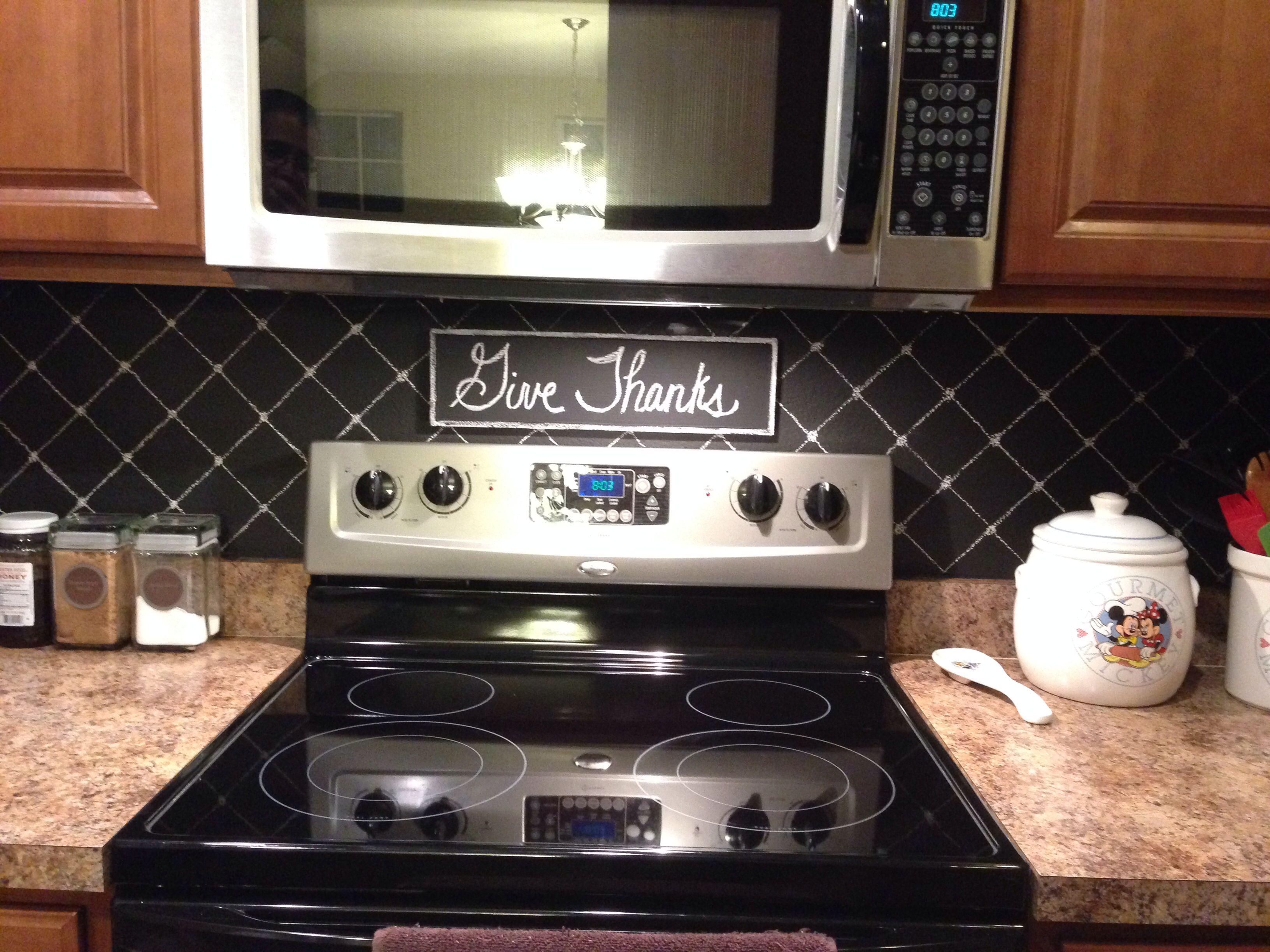 my diy chalkboard backsplash schery s home improvements