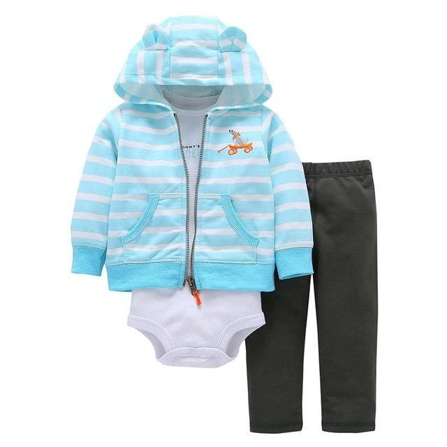 Toddler Kids Baby Boys Long Sleeves Zipper Jacket+Pant Outfit Set Warm Suit