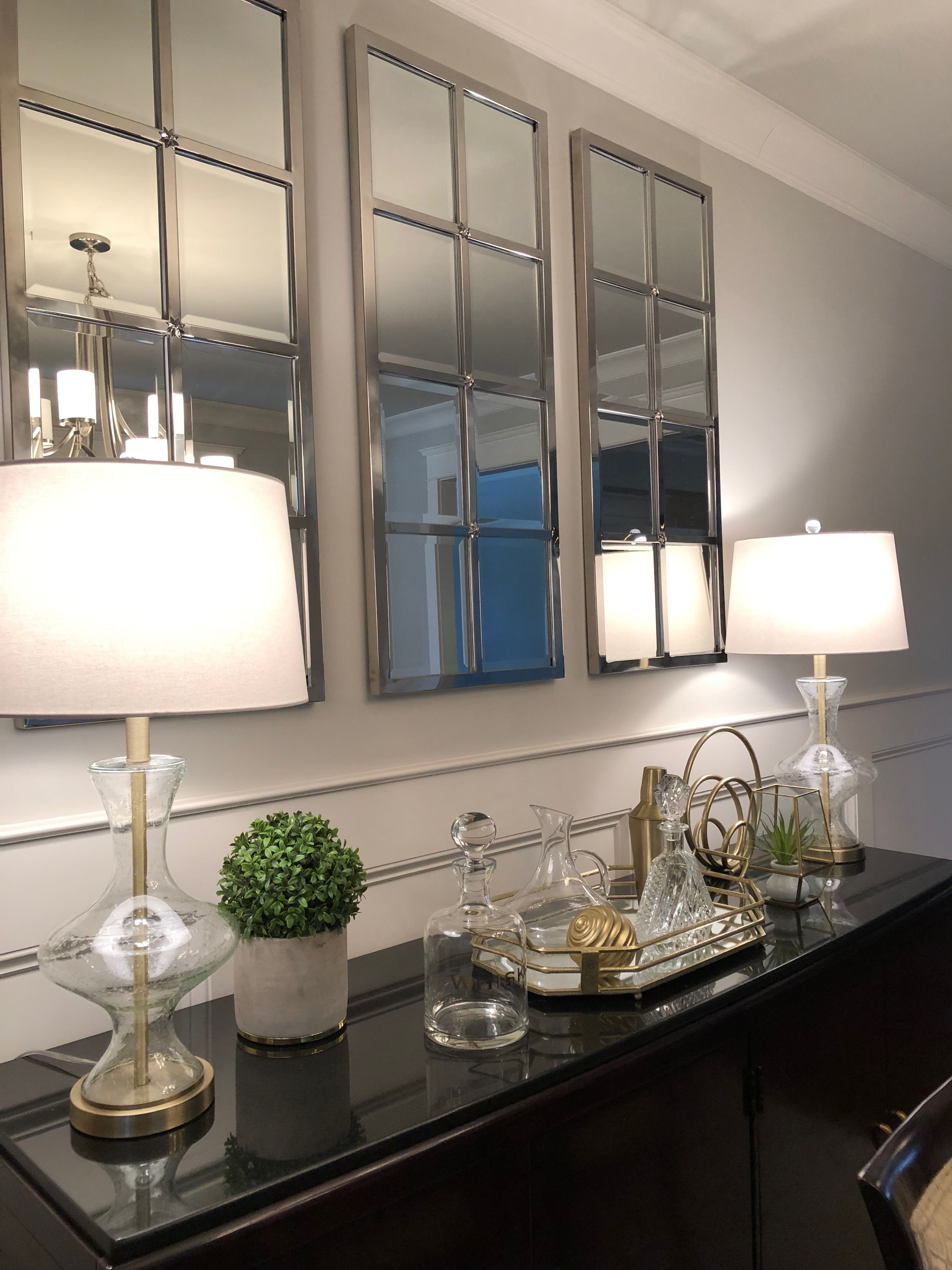 Dining Room Decor Black And Gold Buffet Decor Pottery Barn Mirrors Over Dining Roo Mirror Dining Room Dining Room Buffet Table Decor Dining Room Buffet Table