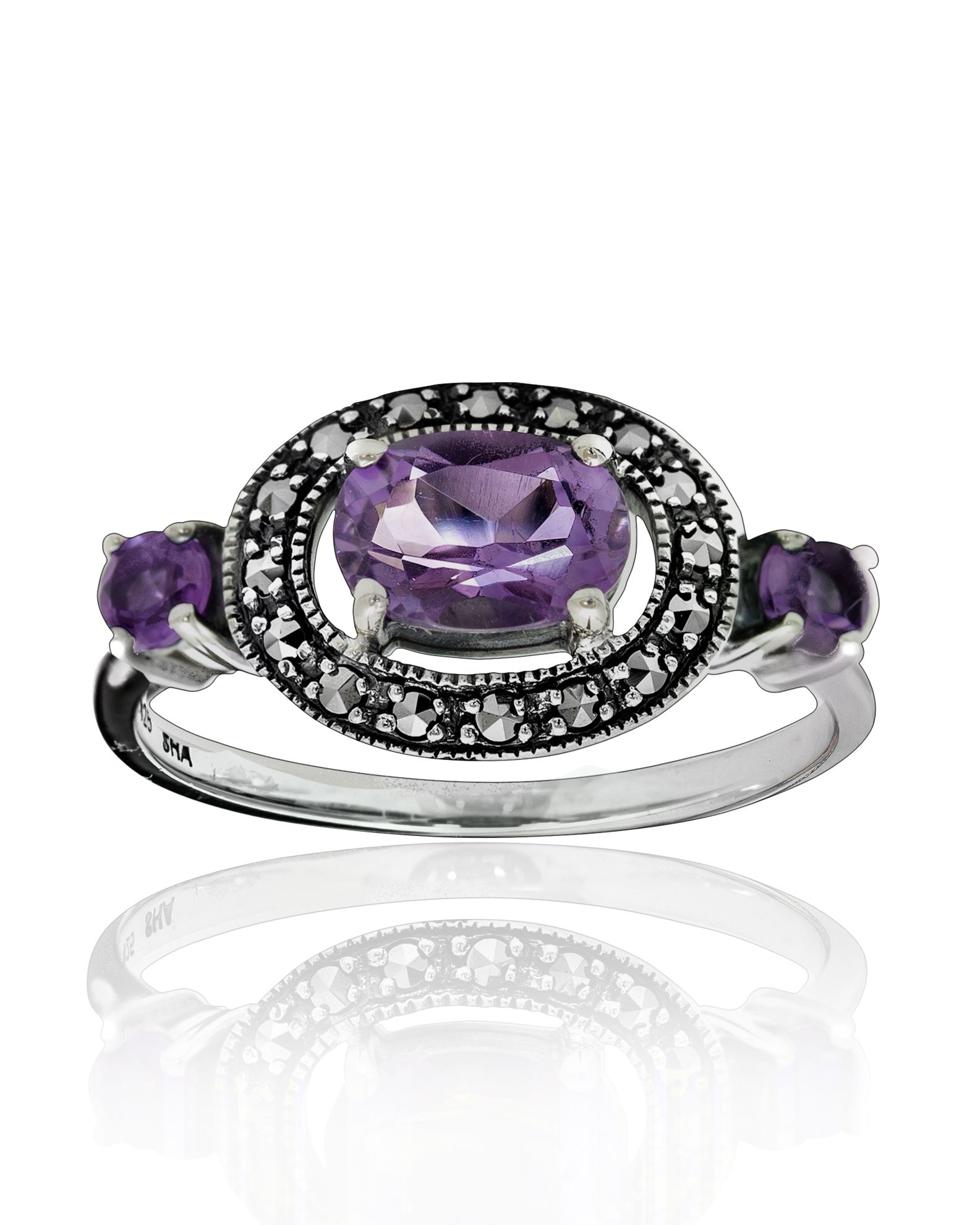 Marcasite, Amethyst, Ring